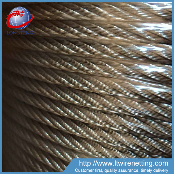 High tensile strength 16mm galvanized used steel wire rope