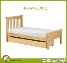 Solid pine wood bed queen size wood double bed designs with box