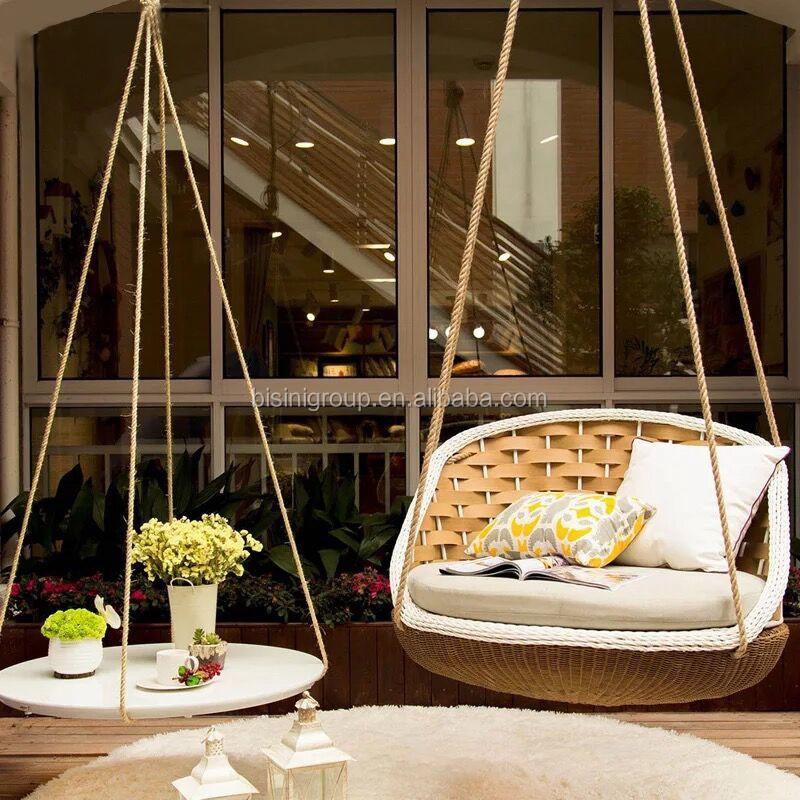 European Style Living Room Swing Chair Luxury Ratten Indoor Sofa Bf11 062233b