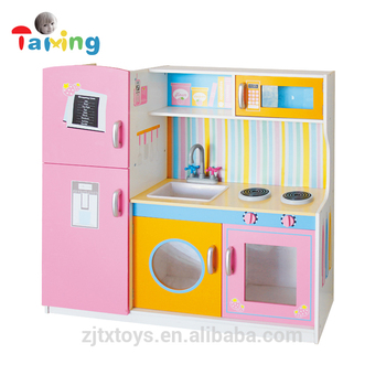 2017 Produk Baru Kayu Kitchen Set Anak Anak Gadis Mainan Impor Untuk
