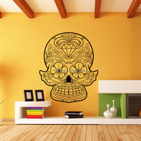 SS10 Customized Vinyl Transfer Wall Mural/Decals Film Car Stickers Logo Stamped Bomb Skull Car Decal Stickers