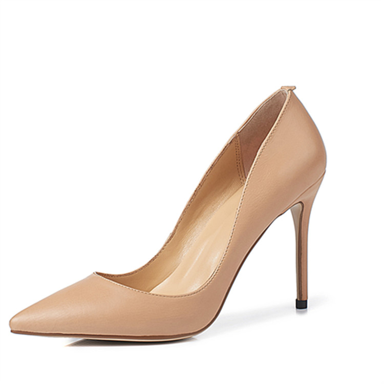 mature woman shoes Asumer high leather heel fashion Genuine pointed wRqqIOv