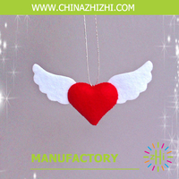 new product high quality popular beautiful red heart valentine decoration
