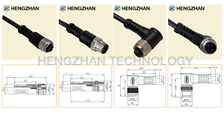 4 Pin Male Female 240v Ac Power Ip67 Waterproof Connector With ...