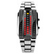 Custom brand #1013 Skmei led binary watch fashionable LED curve dial smart watches men or women with instructions