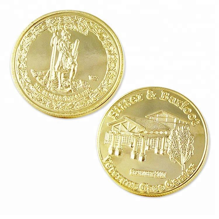 Оптовая продажа на заказ сделать свой собственный сувенир Золотая монета для продажи