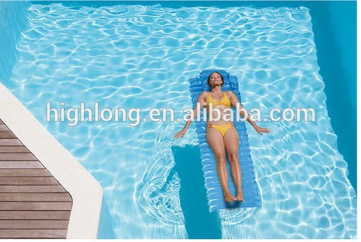 schwimmende matte wasser schwimmenden luftmatratze f r den sommer pool und strand wasserbett. Black Bedroom Furniture Sets. Home Design Ideas
