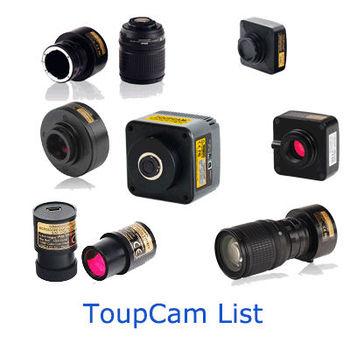 ToupCam Camera List, View eyepiece camera, ToupCam Camera Product