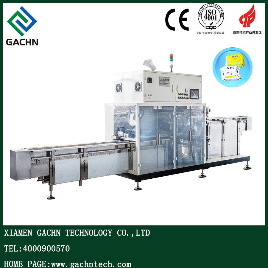 Xiamen The Full Servo Prefabricated Bags Paper Sanitary Napkins Packaging Machine Paper Paking Machine