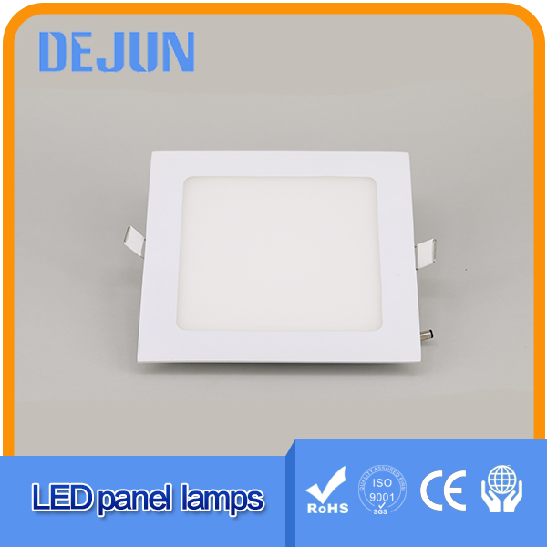 Square flat ultrathin 12 watt ceiling light 2835 SMD led panel light