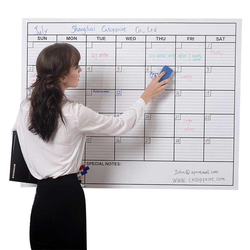 Custom Large Whiteboard Calendar Printing Buy Calendar Printing