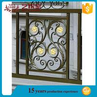 from USA cheap decorative used security wrought iron balcony screen/exterior luxury ornamental aluminum balcony balustrade