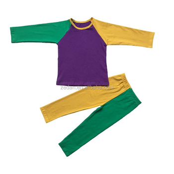 NEW ORLEANS Mardi Gras Holiday green gold purple cloth for kids and adult latest cotton shirts