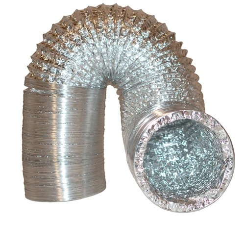 HVAC, bath and general ventilating applications round flexible aluminum foil duct