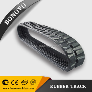 Supply high quality snow blower rubber track, rubber pad ,rubber crawler made from natural rubber for Excavator
