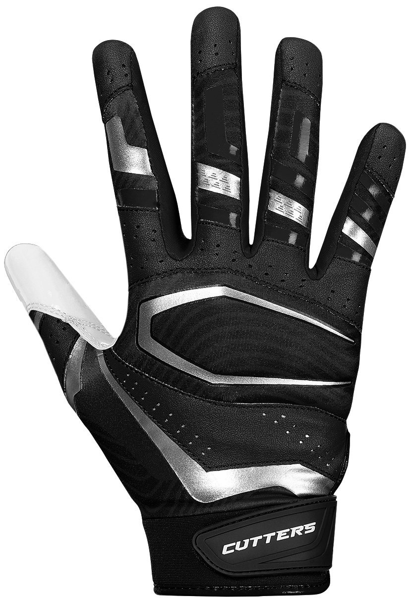 Cutters 017 Original Receiver Gloves White//Black Football Size Medium