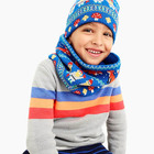 BOY'S 70/30 nylon/wool KNITTED JACQUARD BEANIE SCARF GLOVE SETS
