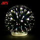 Handmade led lighted up glass 3d xmas christmas balls