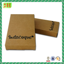 Custom Printed Packaging Gift Boxes Brown Kraft Fodable Paper Box