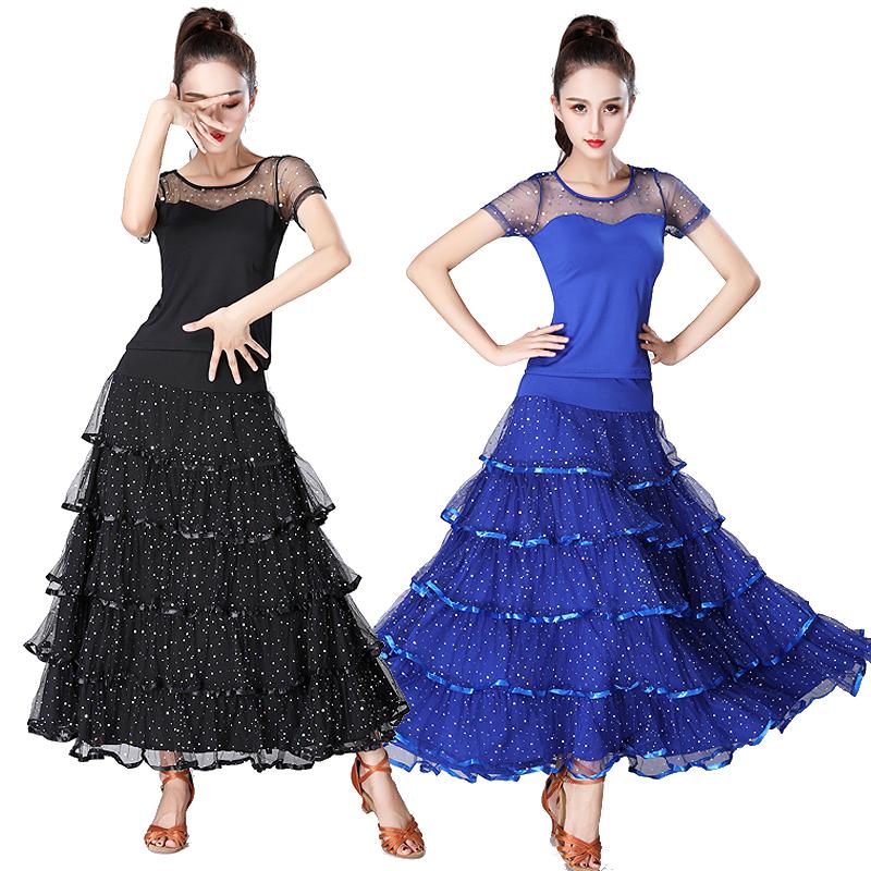 ce218ca5b Salón de baile trajes Internacional de Mujeres moderno estándar etapa de la  danza de competencia traje vals Tango chicas traje de falda