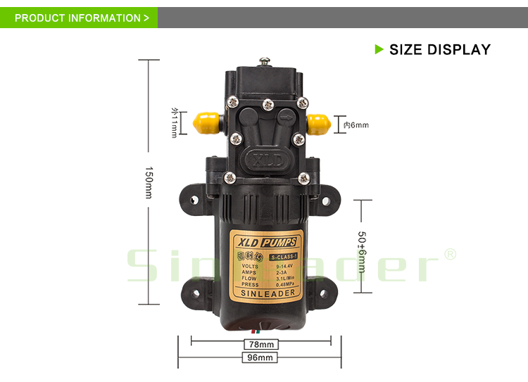 Best price agricultural mini diaphragm dc 12v sprayer high pressure water pump for car wash