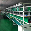 Green PVC belt LED light production assembly line with working tables for mobile phone and television TV etc