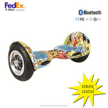 Wholesale two self balancing scooter 2 wheels electrical scooter hoverboard with bluetooth 10 inch