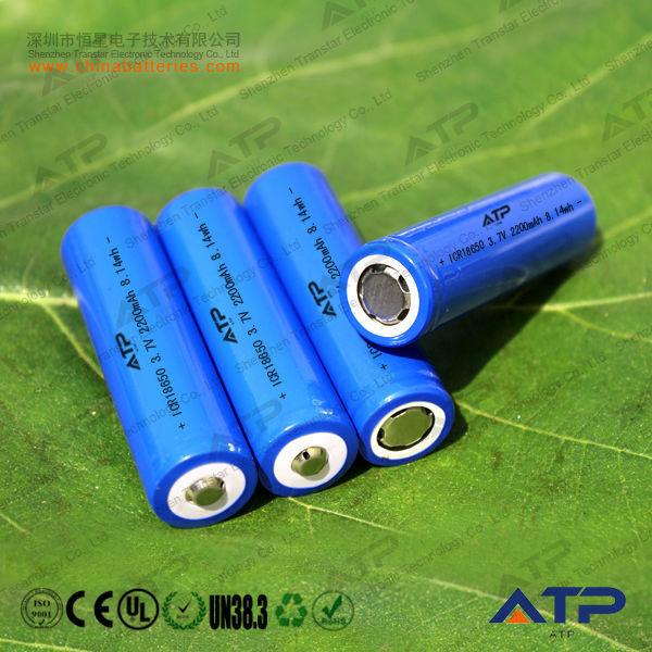 Best Selling 18650 Li Ion Battery Cell 3 7v 2 2ah 18650 Battery