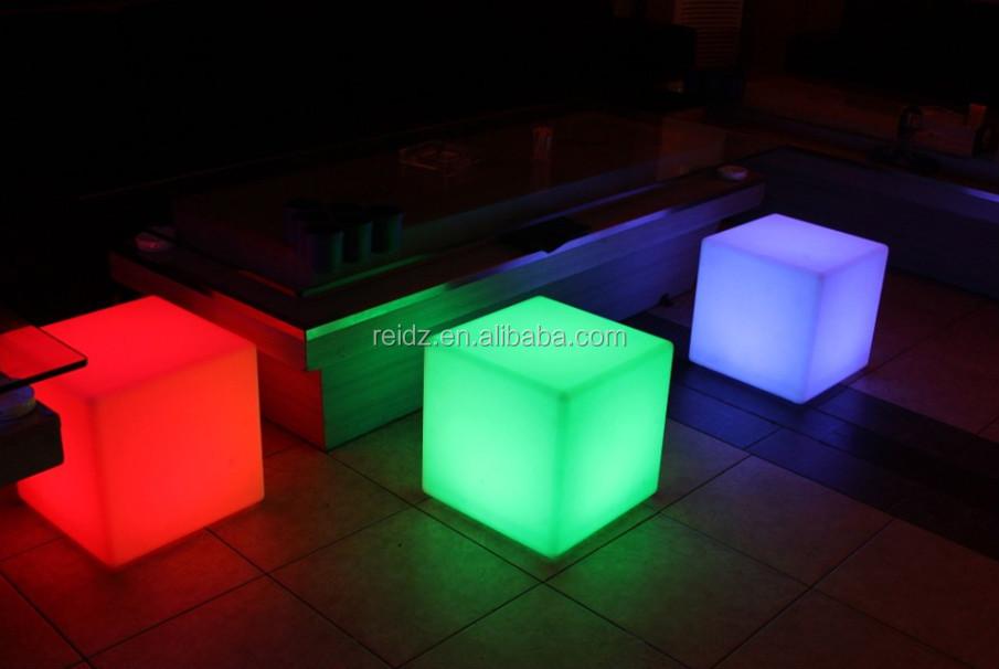 Led Furniture RGB Led Cube Table Light Any Size LED Cube / LED Cube Chairs /