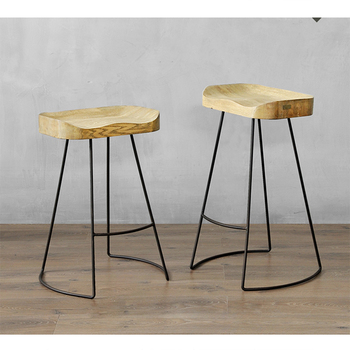 Astonishing Modern Potter Saddle Seat Metal Leg Wood Bar Stools On Sale Buy Bar Stools On Sale Bar Stool Bar Chairs Product On Alibaba Com Gmtry Best Dining Table And Chair Ideas Images Gmtryco