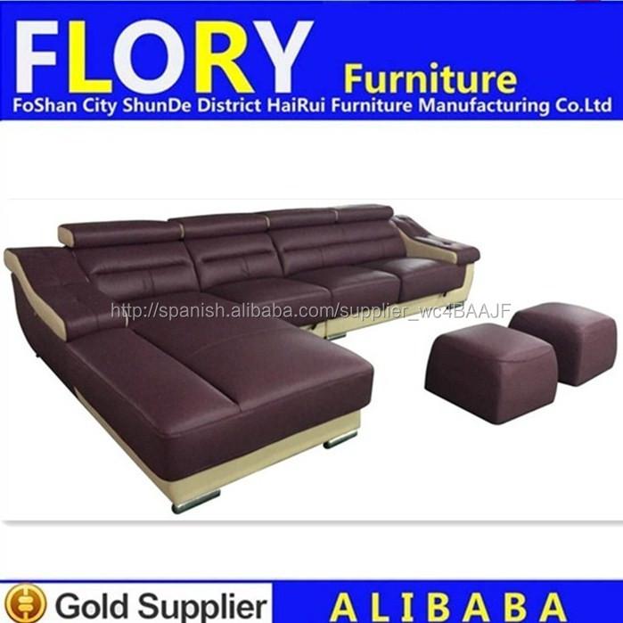 Tv sofá en forma de L muebles conjunto con otomana pies resto F1377 ...