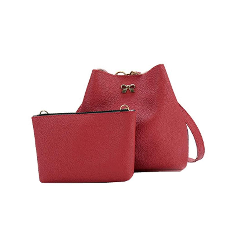 734de9dc4a Get Quotations · Binmer(TM) 2PC Women Shoulder Bag Tote Purse Satchel Girls  Leather Messenger Handbags