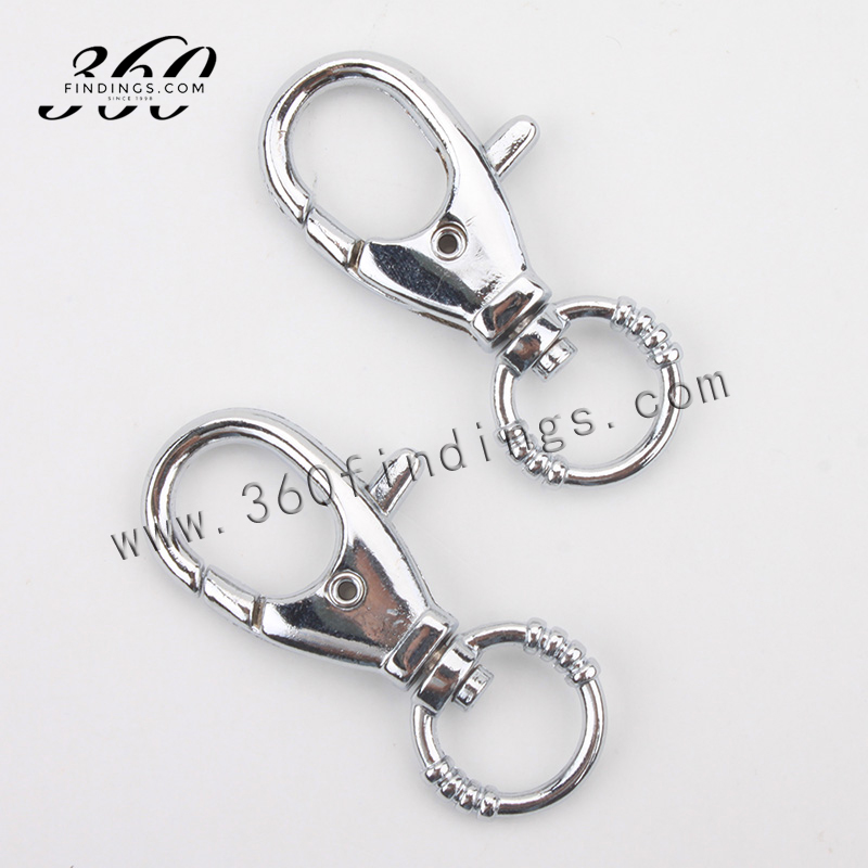 custom findings jewelry making stainless steel trigger steel spring snap hook