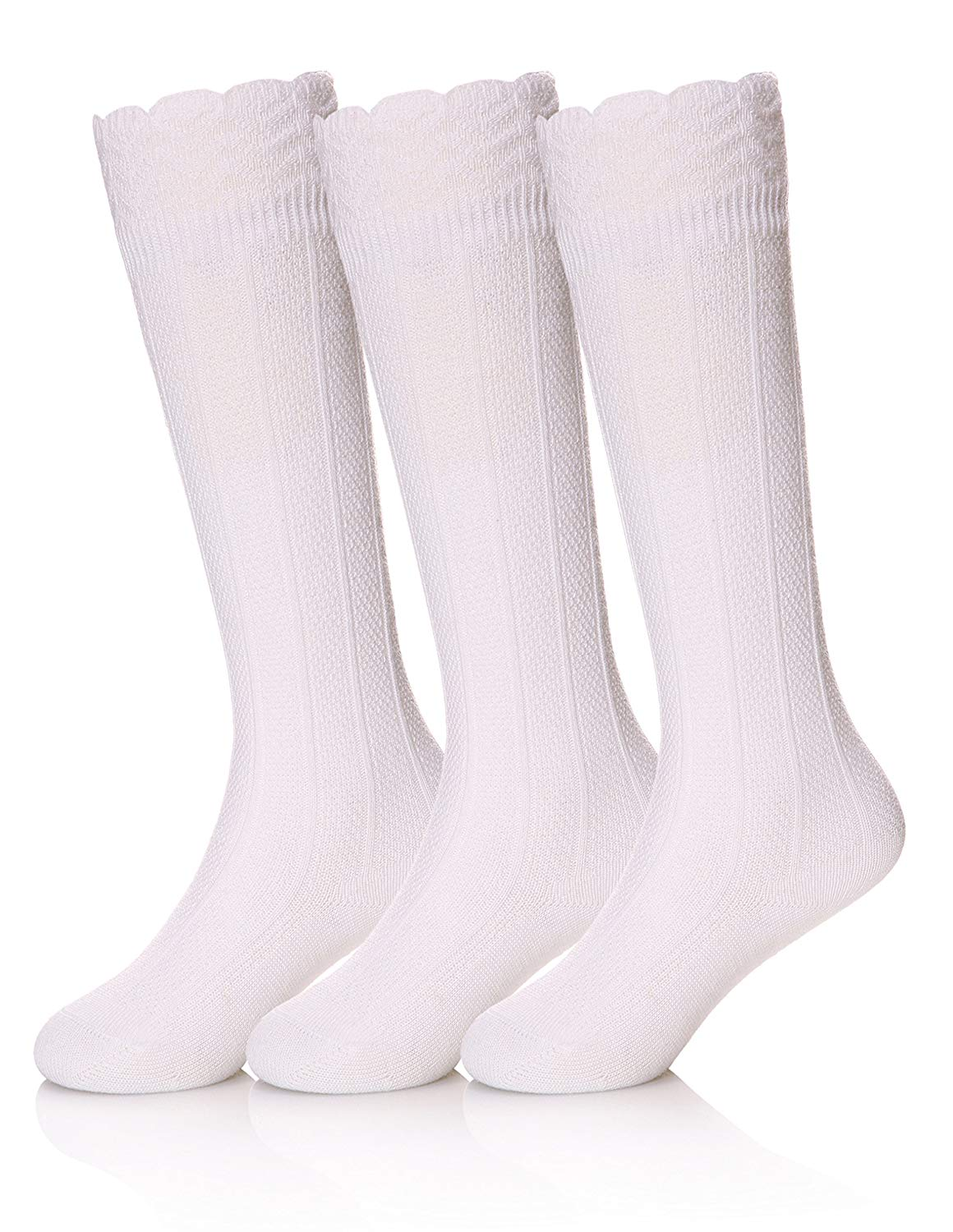 6c17f2171 Get Quotations · SEEYAN Baby Girls Boys Knee High Cotton Socks Kids Toddler  Cable Knit Breathable Stockings