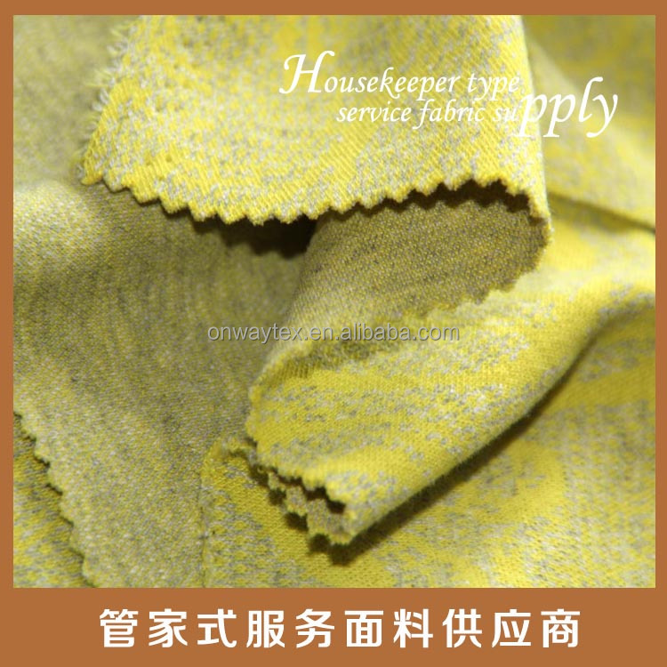 winter clothing yarndyed yellow knitted good looking pattern fabric