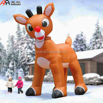 christmas decoration inflatable rudolph the red nosed reindeer