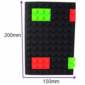 Christams Gift Round Dot Multi-color 20*15cm Note Diary