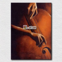 Factory provide directly/ musical instrument oil painting