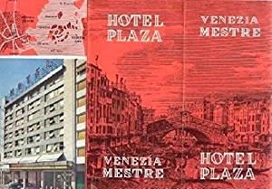 Hotel Plaza Venezia Mestre Brochure Venice Italy 1960's
