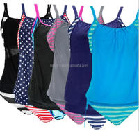 custom oem lady hot sales Push Up Tankini With Panty Two Pieces Swimsuit Set