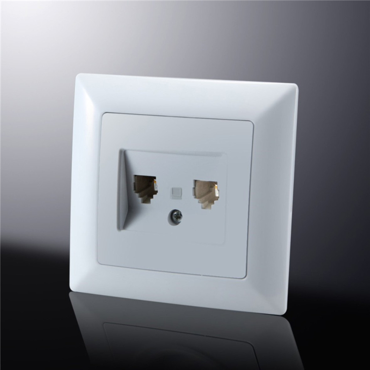Safe receptable electrical plate double computer wall socket with switch