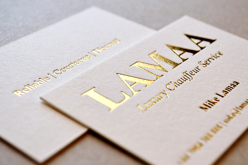 Gold Foil Embossed Business Cards, Gold Foil Embossed Business ...
