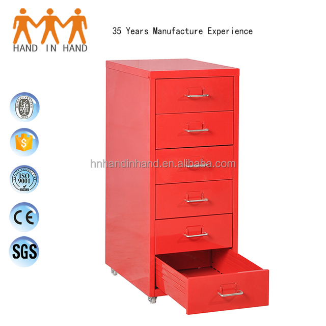 Luoyang Small Husky 26 Inch 6 Drawer File Cabinet On Wheels
