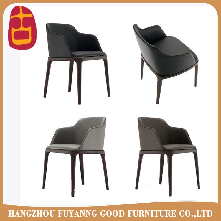 PU leather solid wood dining room chairs home furniture