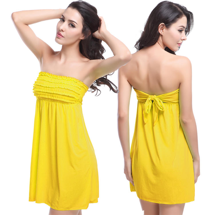 Factory Direct Price Hot sales xxx Girl Photo Swimwear Women Sexy Backless Muti Colors Beach Holiday Dress