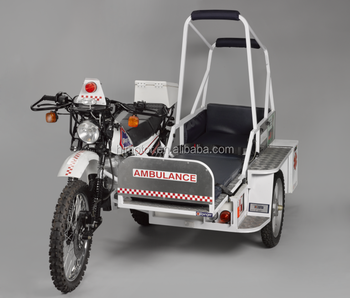 NEW AMBULANCE medical tricycle for urgent patient GUATEMALA SIDE CAR motortaxi moto-taxis TRICARGA