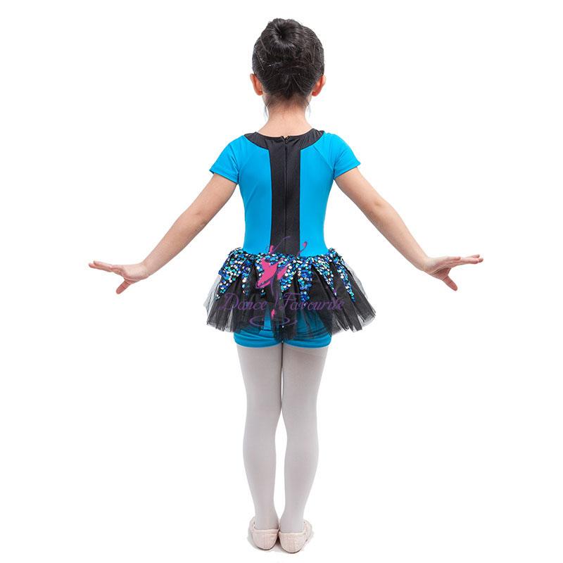 Dance Favourite Jazz,Hip Hop  Tap Costume Stretch Spandex Short Unitard With Black -3636