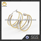 Hot Sell 3-in-1 rings earrings Fashion hoop Gold Ear cuff Tops Designs