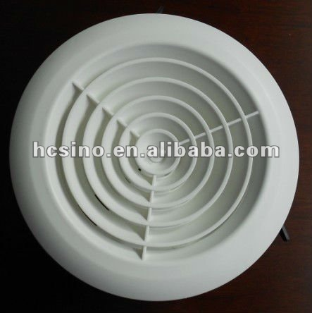 Adjustable Plastic Fresh Round Ceiling Ducting Air Vent / Vent Hoop