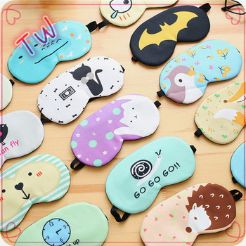 ODM custom luxury cartoon cute sleep mask ,Hot Sale Wholesale Top Quality Polyester cotton eye mask for women sleep
